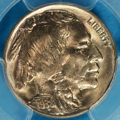 1938-D Buffalo Nickel PCGS MS65- Strong Luster, Sharp Gem Buffalo