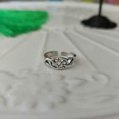925 Sterling Silver Celtic Toe Ring in Box