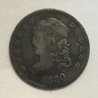 1830 H10C Capped Bust Half Dime F Details Uncertified #