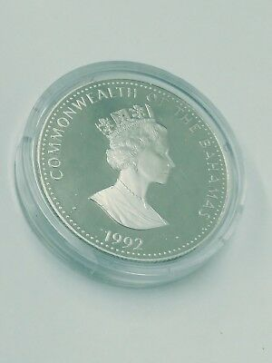 Bahama $10 Ten Dollar Silver Proof Coin 1992 Discovery Of The New World