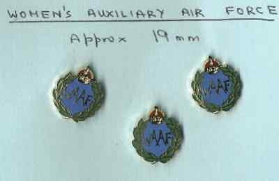3 enamelled lapel badges for the WAAF with  Pinnit Fitting