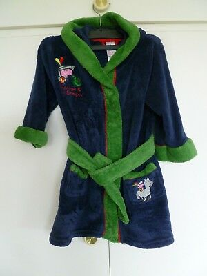 Boys Hooded Dressing Gown Age 18-24 months