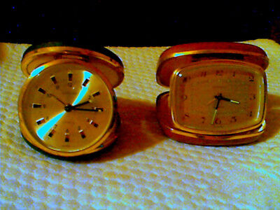 Europa 2 Jewels Vintage Pocket Watch/Travel Alarm Clock. Made in Germany