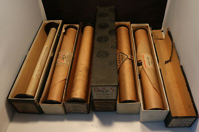Piano Roll Lot of 6.  Mostly QRS Autograph