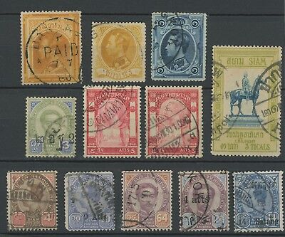 Thailand Stamps 1883-1909 Old Siam Chulalongkorn Selection Inc Sg #26, #120 Vfu
