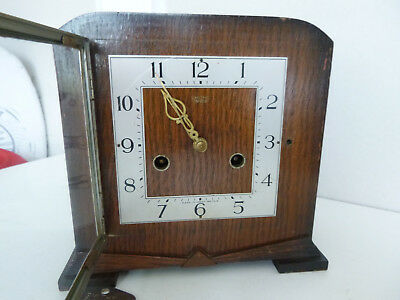 Smiths Enfield Art Deco Striking Mantel Clock