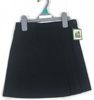Girls Ex Store Black School Skirt Ages 3,4,5,6,7,8,9,10,11,12,13 NEW