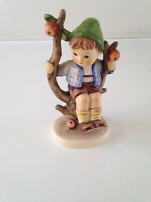 Vintage Ornamental Hummel Figurine small boy in apple tree 9cm high approx