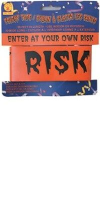Caution Tape Halloween Party Decoration Enter at Your Own Risk Danger Garland