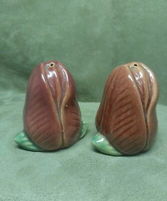 Vintage Rosemeade Pottery Red Tulip Shakers North Dakota(Both Two Holes)