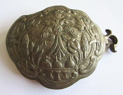 Rare Antique Ottoman Empire/bulgaria Women's Folk Silver Belt Buckle/half