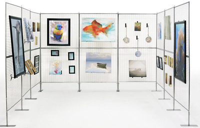 Huge 9 Panel Craft Fair Art Show Gallery Booth Grid Display Exhibit Stand