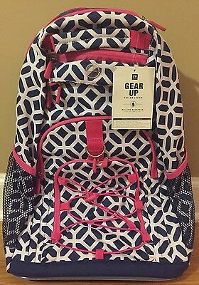 921c8c2a90 NEW Pottery Barn Teen Gear-Up Peyton Rolling Backpack NAVY BLUE PINK