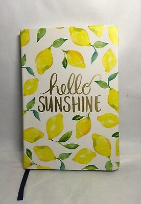 "Diary Planner Journal Scheduler Blank Note Book 8.5"" x 6"" Life's Lemons HELLO"