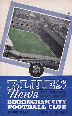 * 1956/57 - BIRMINGHAM CITY v NOTTINGHAM FOREST FA CUP (2nd March 1957) *