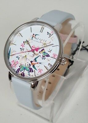 8a8113b07e1653 Ted Baker TE10031551  Kate  Women s 38mm Light Blue Floral Watch NWT+SHIPS  FREE