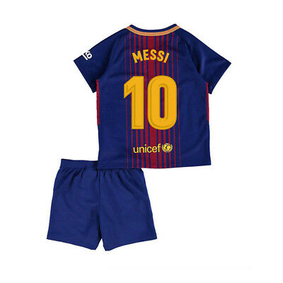 MESSI NO.10 Junior Youth Sport Football Soccer Jersey Short Sleeve Pants for Boy