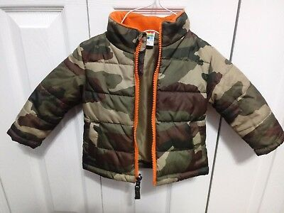 33a39ec57 HEALTHTEX Toddler Boys Jacket SIZE 12m CAMO Puffer Winter Coat Full Zip  VGUC!