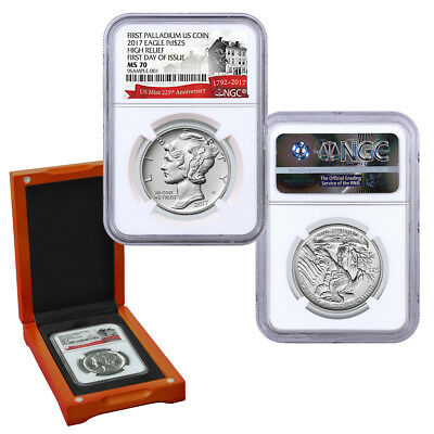 2017 1 oz Palladium American Eagle  MS 70 NGC (FIRST DAY OF ISSUE)