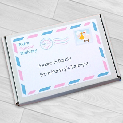 A Twins Letter To Mummy / Daddy From The Bump Fathers Day Gift Milestone Cards