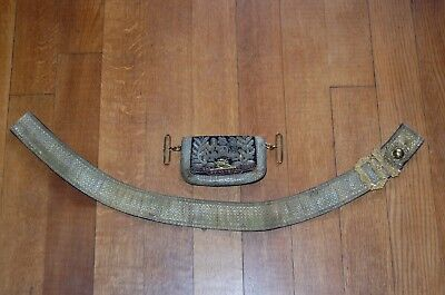 Victorian Royal Horse Artillery Officers Full Dress Embroidered Pouch & Belt