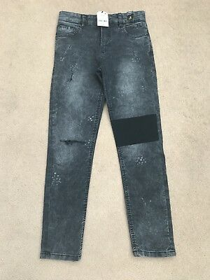 NEXT Boys Grey Distressed Super Skinny Jeans Age 12, New With Tags