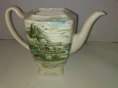 """JOHNSON BROTHERS The Road Home 7 1/2"""" COFFEE POT NO LID ENGLAND"""