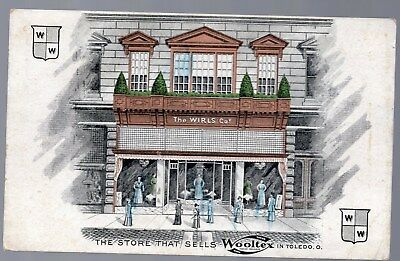 Vintage Victorian Trade Card. Postcard, The Wirls Co. Toledo, Ohio, Wooltex