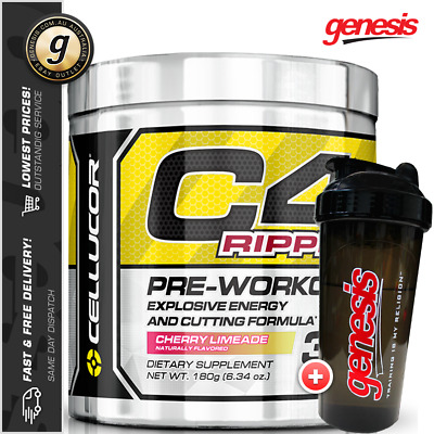 Cellucor C4 Ripped Gen 4 - Fat Burning Pre Workout Weight Loss + Free Gift!