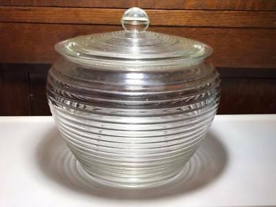 Art Deco Glass Biscuit Barrel