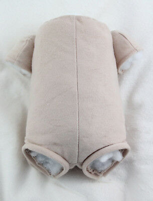 "17"" reborn baby doll body doe suede for 3/4 arms & full front-loading legs kits!"