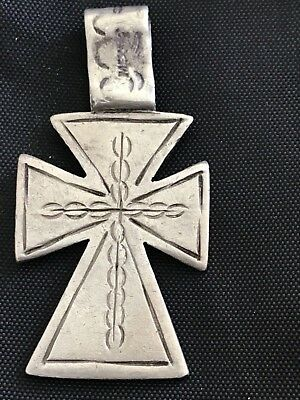 Vintage sterling silver 925 Mexico cross pendant TF 68