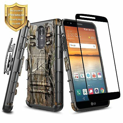 For LG Stylo 4 / 4 Plus Case | Shockproof Clip Holster Rugged Cover + Kickstand