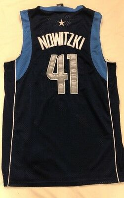 510ee1b95f8 Blue DIRK NOWITZKI x DALLAS MAVERICKS Jersey adidas 41 Basketball NBA XL