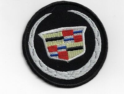 New Cadillac 'Black' Round 3 Inch Iron on Patch Free Shipping
