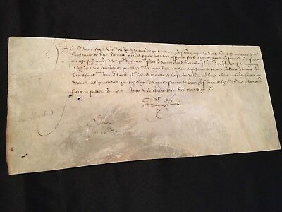 Antique Vellum 1620                         Payment To A Royal Treasury