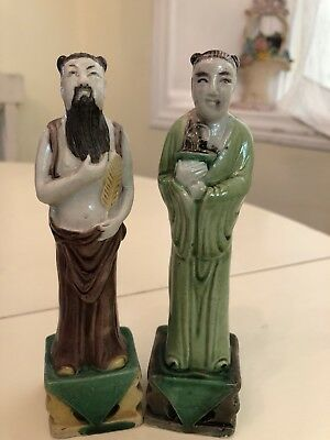 Vintage Antique Asian Chinese Couple Estate Figurines