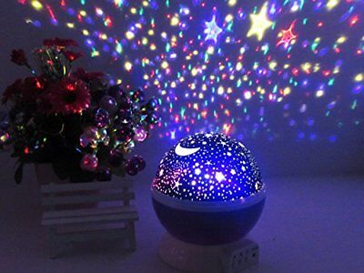 Color Twilight Stars Beauty Projector Night Light Lamp Sleep Help Relaxation New