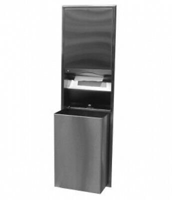Bobrick Classic B3947 Combo Unit, Paper Towel and Waste 68L Silver Recessed