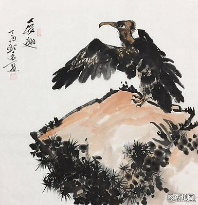 Excellent Chinese Painting on rice paper By Wei Zhiyuan:bird Q01