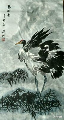 Excellent Chinese Painting on rice paper By Jian xin:bird Q03
