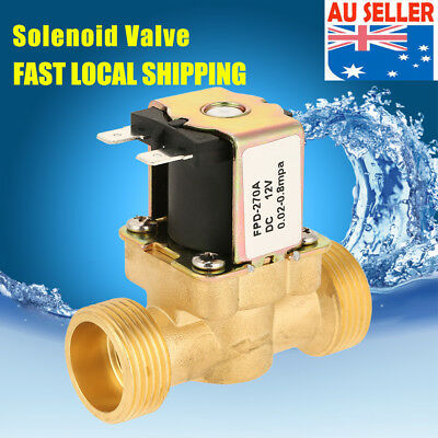 12V DC VDC Normal Closed Slim Brass Electric Solenoid Valve Water Air N/C 1PCS