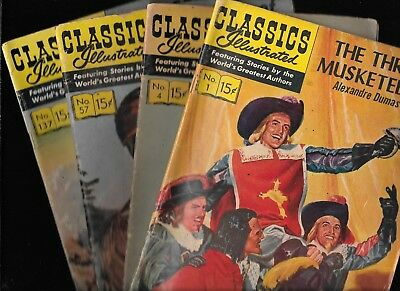 Classics Illustrated #1 4 57 137 HRN 134 167 139 136 (0) GD/VG 1957 1966 Savage