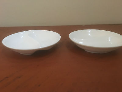 Set of 2 Round Maxwell & Williams Double sided Dip Bowls -10cm - Like New