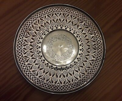 Antique Smith Patterson Co. Sterling Silver Pedestal Plate Platter 280 grams