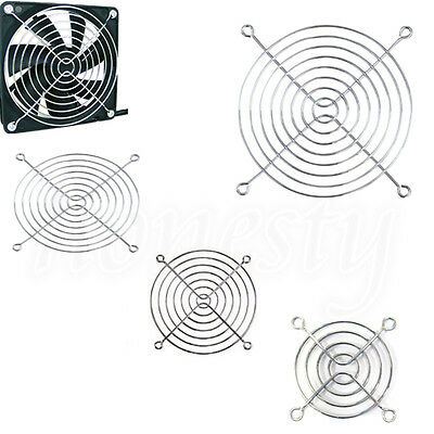 1~ 4x  60/110/120mm Metal Grill Finger Axial Fan Guard Protector for PC Computer