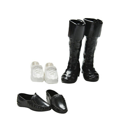 BU_ 3X 2inch Prince Doll Simulation Sneakers Cusp Shoes High Boots for Barbie Gr