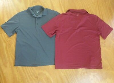 Greg Norman Playdry golf polo shirts size M bundle of 2 shirts AS NEW never worn