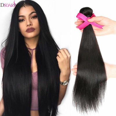 100% Tissage Bresilien Lisse Extension De Cheveux Natural Virgin Remy Human Hair