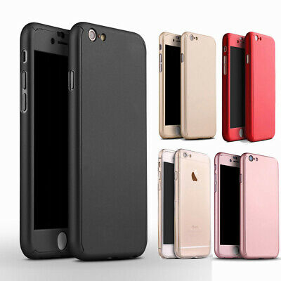 Ultra Slim Hybrid Shock Proof Case 360 full body Armor Cover for iPhone SE 5s 5